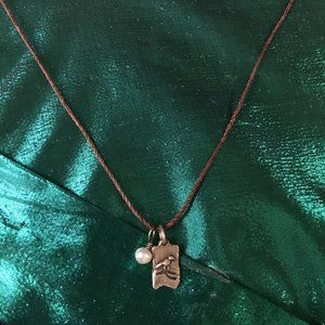 Jewelry - BIRD AND PEARL CHARM NEVER FORGOTTEN NECKLACE